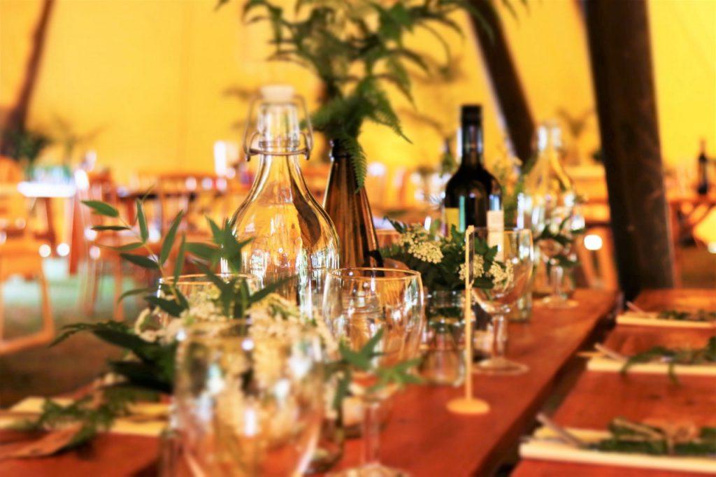 Dineren in een stretchtent